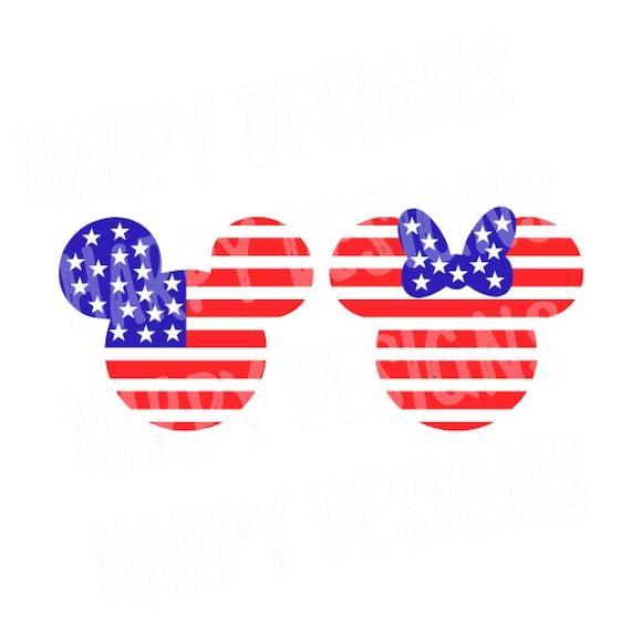 Cuatro de julio SVG de Minnie Mickey Mouse bandera bandera | Etsy