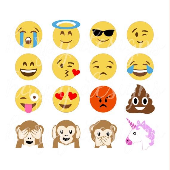Dessins De Emoji Svg Svg Emojis Crotte Emoji Svg Licorne Etsy