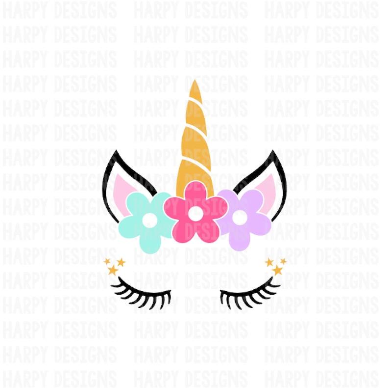 Unicorn SVG Unicorn Face SVG Unicorn Clipart SVG Files   Etsy