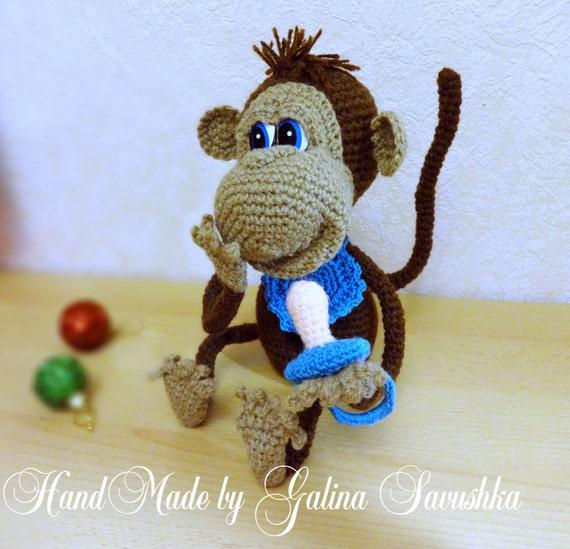 Toy Pattern Crochet Monkey Etsy
