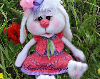 Knitting Pattern amigurumi Bunny Sophie a set of clothes for Easter bunny, gift for baby shower, for her, wedding