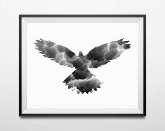Eagle Print, Bird Wall Art, Eagle Art, Bird Art Print, Black and White Print, Nature Photography, Bird Artwork, Bird Photography, Nature Art
