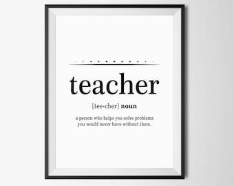 Funny Teacher Gift from Student Dictionary Art Teacher | Etsy