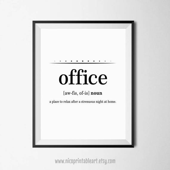 Funny Office Quotes Office Wall Art Office Printables Funny Definition Art | Etsy Funny Office Quotes