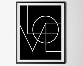 Large Printable Art, Love Prints, Printable Love, Love Wall Art, Wall Art Printable, Love Art Print, Printable Woman Gift, 8x10 Love Print