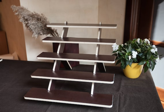 40Shelf Tray Display Stand Portable Wooden Shelf Craft Fair Etsy Custom Display Stands For Craft Fairs