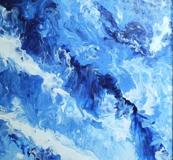 Deep Blue Sea Art Ocean Water Abstract Art Dark Blue Wall Art Sea Waves Art Water Pattern Blue And White Abstract Water Art