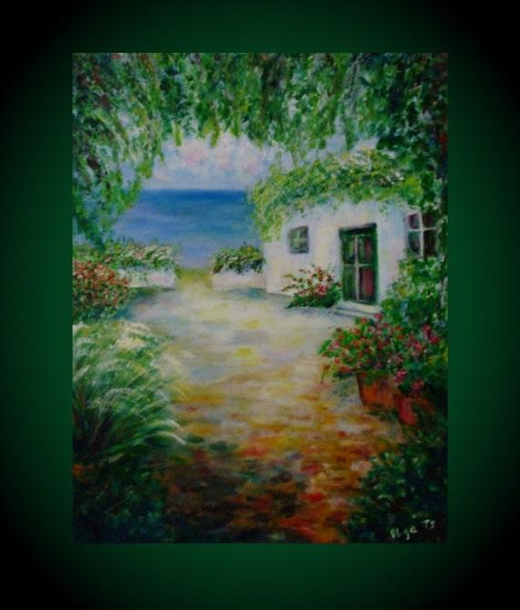 White House Original Acrylic Art Landscape Paintings Best Gift Etsy