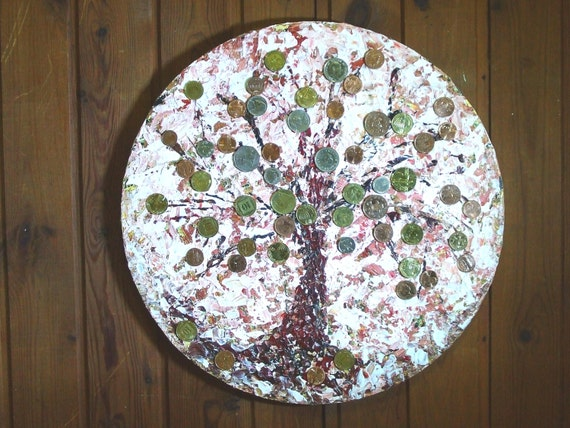 Wohnkultur Feng Shui Kunst Geld Baum Kunst Gemälde Etsy