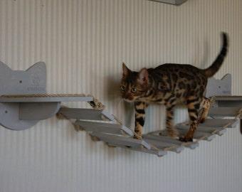 Cat shelves bridge  Cat wall furniture