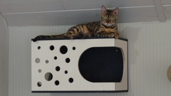 Cat house cat cabinet,pillow gift for catlover pet supplies plywood cat bed modern cat furniture Furniture set for cats