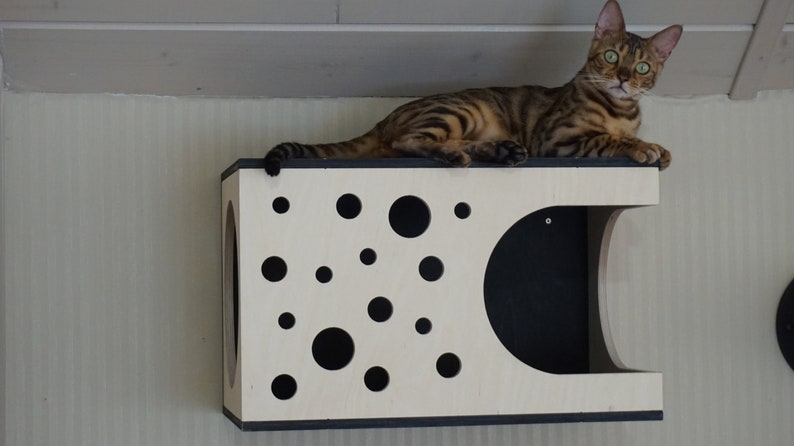 Cat House Plywood Modern Furniture, Modern Cat Bed Furniture