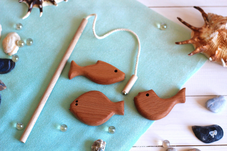Wooden game set Developing ToyFishing