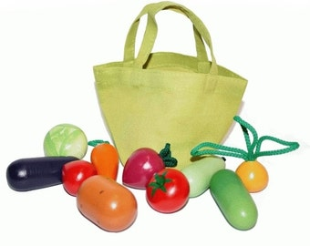 Toy set of vegetables, educational toy, Wooden baby toy