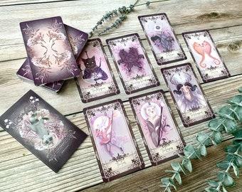The Reigning Rouge Tarot Deck, silver edges, tarot, divination, spirituality
