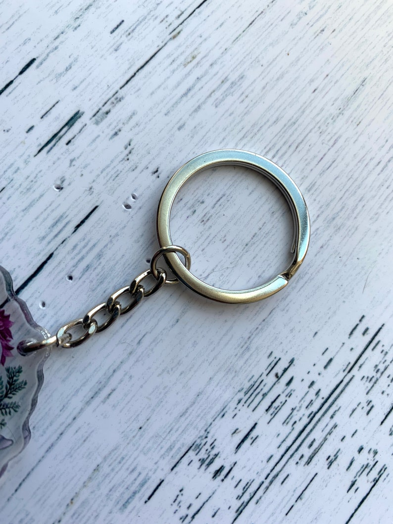 acrylic charm canine CLEARANCE CHARM Wolf keychain