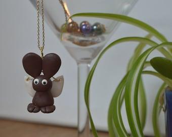 Flying Dierklei Bunny Necklace