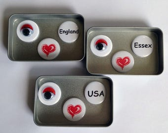 I Love Essex, England, USA Magnet Gift Sets, Cute Gift, Googly Eye, Keepsake, Handmade, Say It With Magnets, Other Options