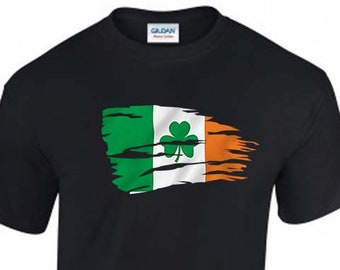Ireland Shamrock Flag USA Unisex T-Shirt, Faded Design, Original Tee, 6 Color Options