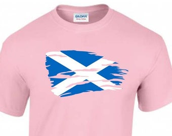 Flag of Scotland Unisex T-Shirt, Saint Andrew, Faded Design, Original Tee, 6 Color Options