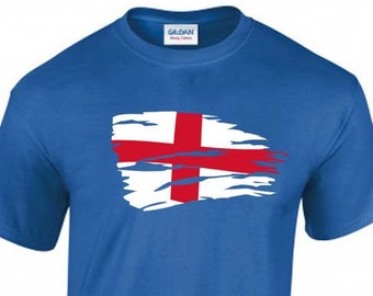 Saint George's Cross Flag of England Unisex T-Shirt, Saint Andrew, Faded Design, Original Tee, 6 Color Options