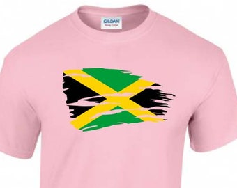 Flag of Jamaica Unisex T-Shirt, Faded Design, Original Tee, 6 Color Options