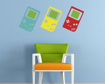 Retro Game Boy Wall Stickers, Matt Vinyl, Contemporary Wall Art, Wall Decor, Murals, Decals, 1283mm x 500mm