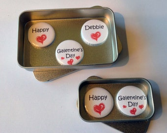 Happy Galentine's Day Bestie  Magnet Gift Set with Gift Tin, Handmade, Keepsake, Personalised Options