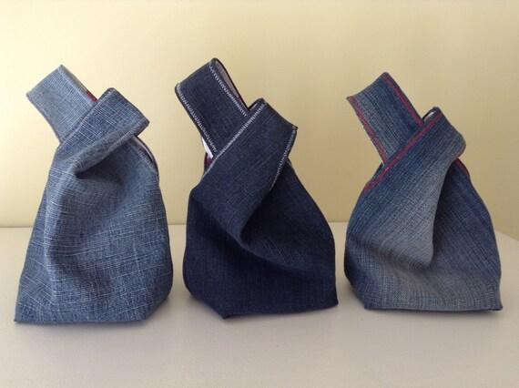 Mini Kühlschrank Mit Jeans : Japanische knoten jeanstasche mini handgelenk etsy