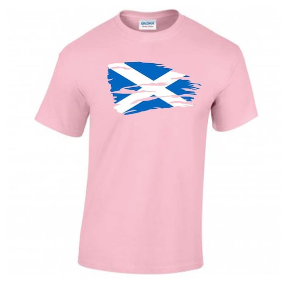 SCOTLAND EMBLEM FLAG HEART SHAPED I LOVE TSHIRT