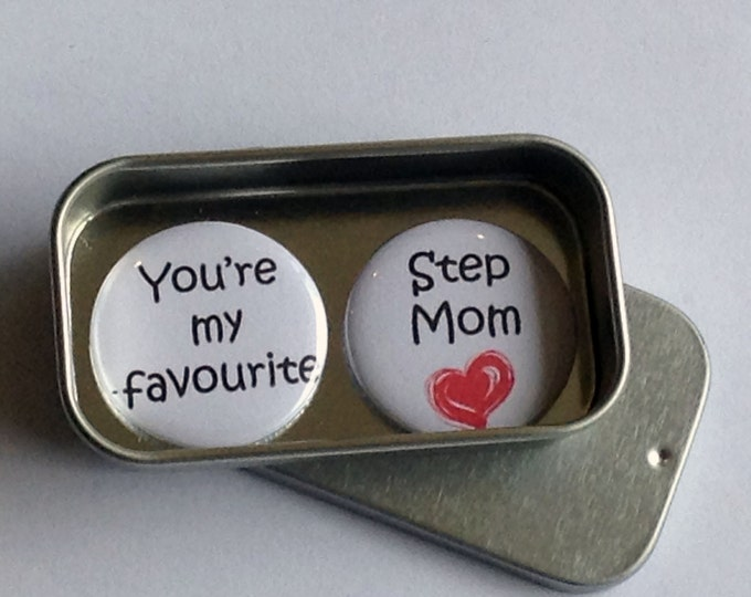 Featured listing image: Favourite Step Mom / Mothers Day / Magnet Gift Set / Mum Gift / Mom Gift / Card Alternative / Handmade / Keepsake