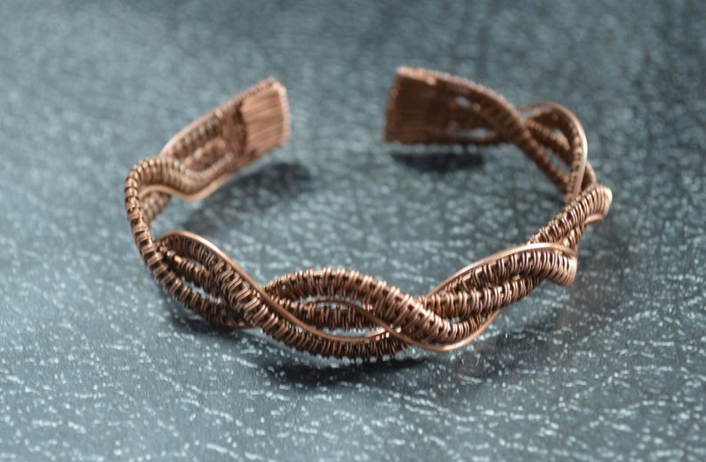 copper bracelet gift for girlfriend wire jewelry copper in handmade gift for women bohemian jewelry copper gifts unique bracelet wire wrap