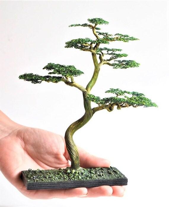Bonsai Tree Office Gifts Tree Art Fairy Garden Supply Etsy