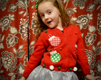 9b619881e 5T kids Ugly Christmas Sweater 5 year old girl kid one of