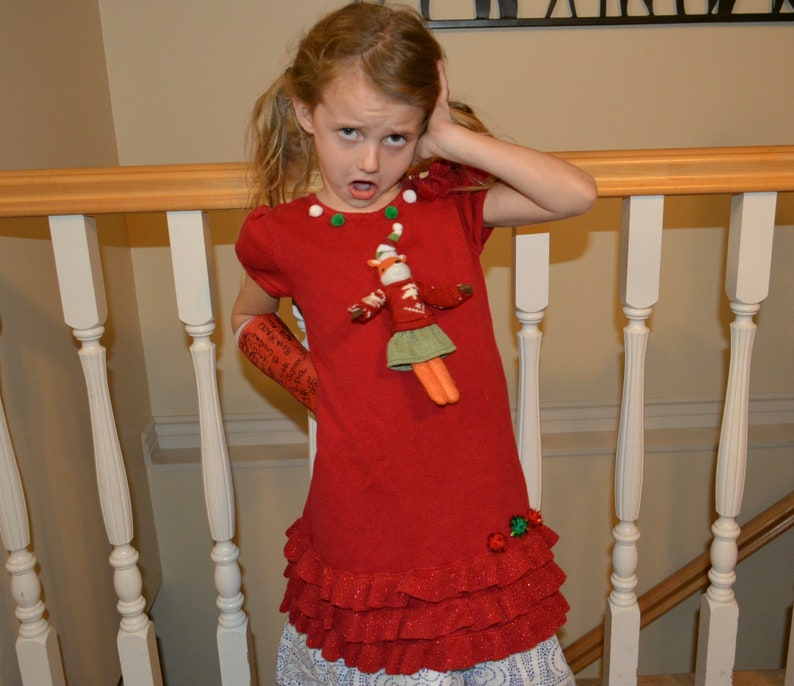 25d7062ec 5T Girls Ugly Christmas Sweater dress baby toddlers girls