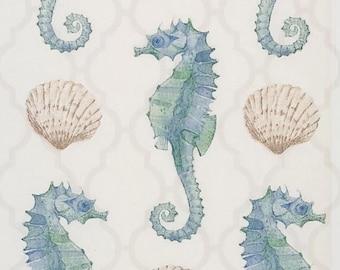 Seahorse Napkins For Decoupage Coastal Sea Life Decoupage Napkins