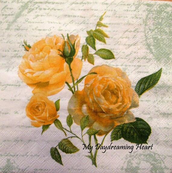 Rice Paper Decoupage Scrapbook Craft Romantic Roses 662