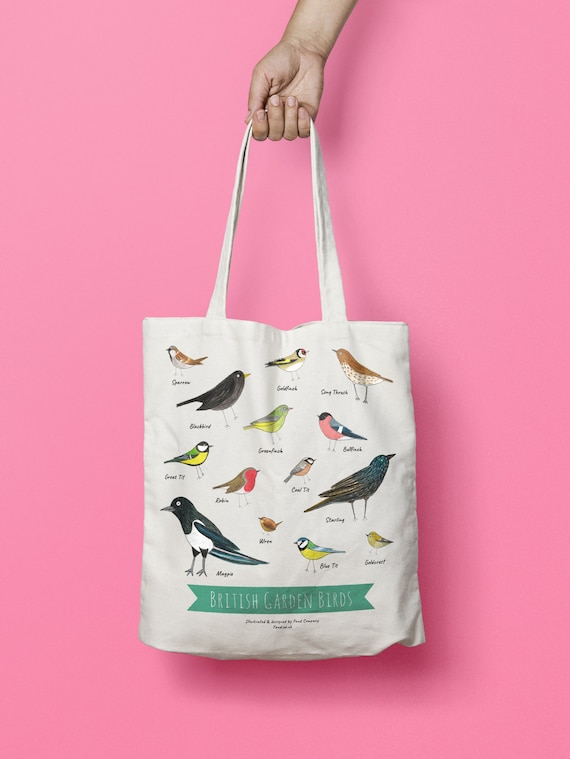 Carry-all Birds on a Wire Beach Bag Tote Bag Grocery Bag Reversible Bag Shopping Bag