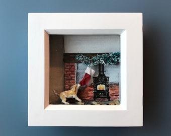 Santa's little helper - Micro 3D beagle artwork