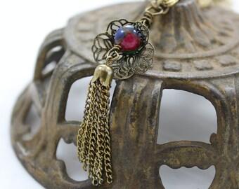 Vintage Tassel Flower Bud Necklace