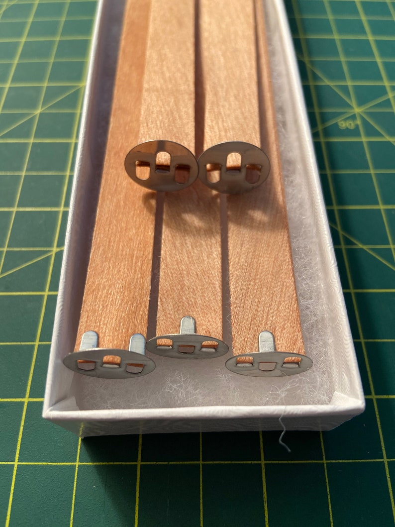 DIY Double Cherry Wood Wick  Low Profile Wick tab 5 and 10 image 0