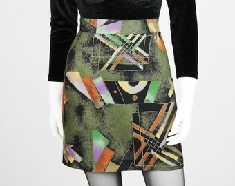 Colorful vintage skirt made of light cotton