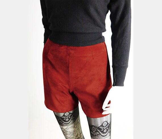 Short suede vintage Shorts in Kaminrot