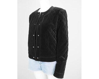 Vintage quilted jacket made of velvet