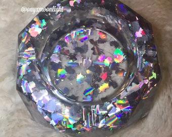 Unicorn Holo Tray | Ash-Tray Trinket Dish Accessory Holographic Dome Storage Dish