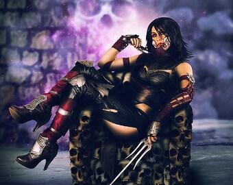 Printing Mileena HD cosplay photos