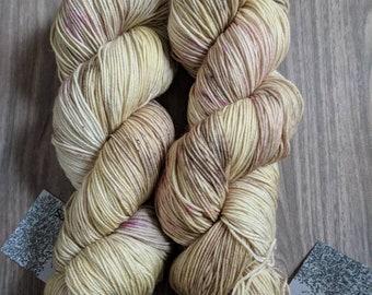 Yarn, Hand dyed yarn, Yellow Yarn, Fuschia Yarn, Superwash Merino/Nylon,Sock Yarn, Knitting Yarn, Crochet Yarn - Roses for Sophronia