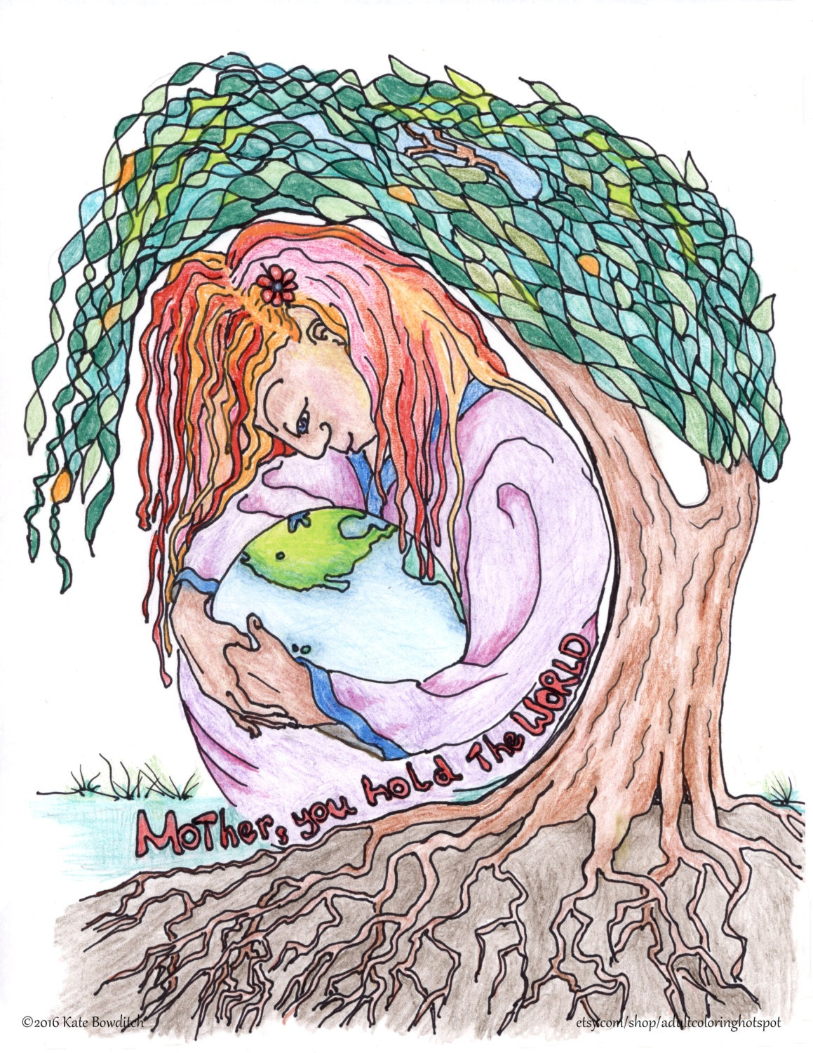 coloring pages mother 39 s day mother nature mother earth etsy