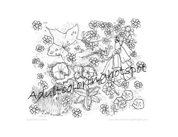 Coloring pages, Summer Colors, Summer Flowers, Nature