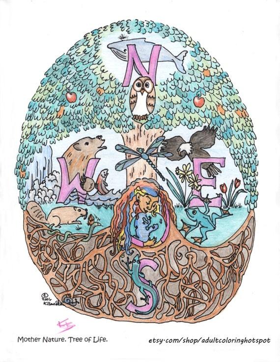 Disegni Da Colorare Pagine Madre Natura Albero Della Vita